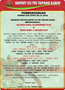 Pengumuman Natal 2018